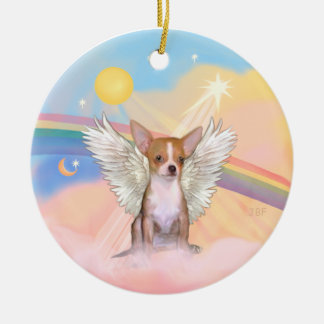 Clouds - Chihuahua light red Christmas Tree Ornaments