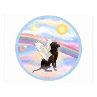 Clouds - Chocolate Labrador Retriever Angel Postcard