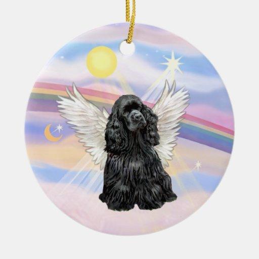 Clouds - Cocker Spaniel (black) Ornament