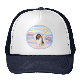 Clouds - Collie Angel (sable and white #1) Trucker Hat