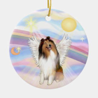 Clouds - Collie (Sable-White) Ornament