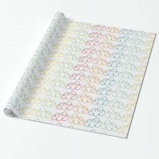 clouds colorful patterns wrapping paper