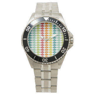 clouds colorful patterns wristwatch