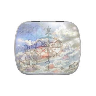 Clouds Compass Candy Tins