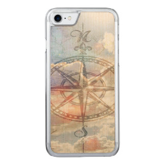 Clouds Compass Carved iPhone 7 Case