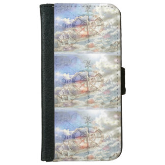 Clouds Compass iPhone 6 Wallet Case