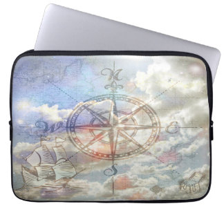 Clouds Compass Laptop Computer Sleeves