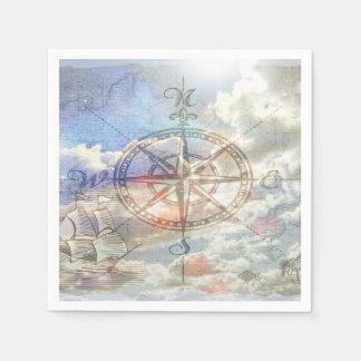 Clouds Compass Napkin