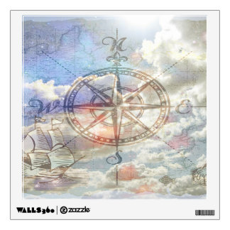 Clouds Compass Wall Skins