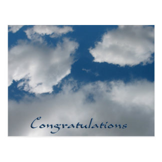 clouds congratulations postcard