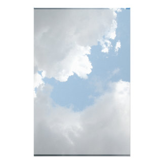 clouds custom stationery