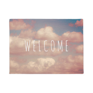 Clouds Custom WELCOME Door Mat