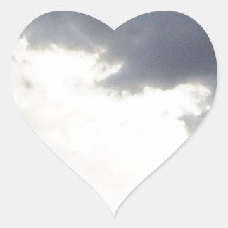 Clouds design heart sticker