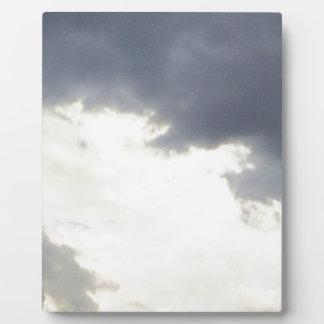 Clouds design plaque
