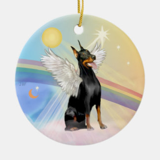 Clouds - Doberman Pinscher Ceramic Ornament