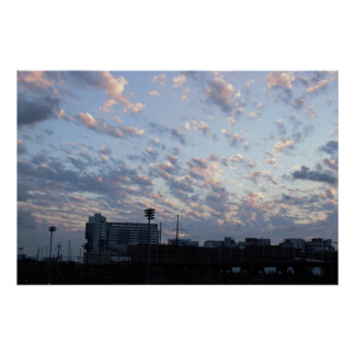 Clouds During Sunset Photo Poster