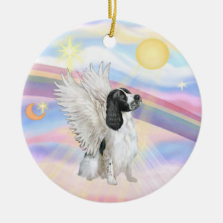 Clouds - English Springer Spaniel Double-Sided Ceramic Round Christmas Ornament