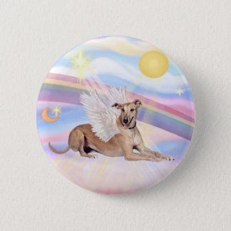 Clouds - Fawn Greyhound Angel (lying down) Button