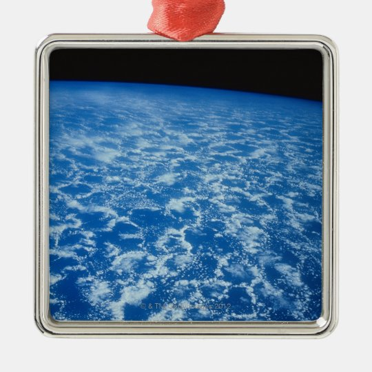 Clouds from Space Metal Ornament
