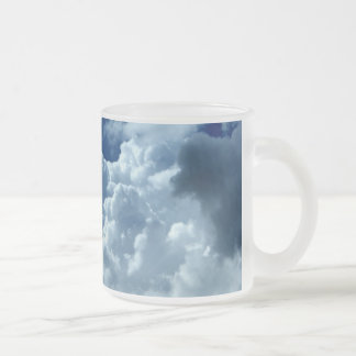 Clouds Frosted Glass Coffee Mug