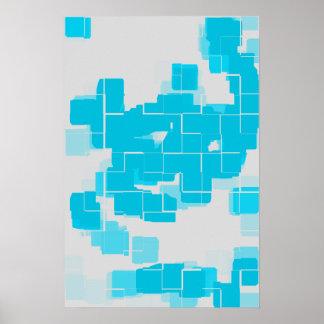 """Clouds"" Geometric Art Poster"
