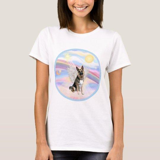Clouds - German Shepherd (#3) Angel T-Shirt