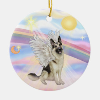Clouds - German Shepherd (#9) Ceramic Ornament