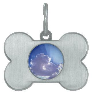 Clouds Gods Rays Pet ID Tag