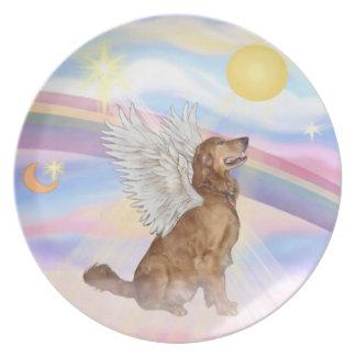 Clouds - Golden Retriever Angel Plate