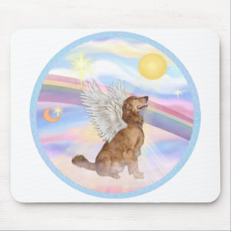 Clouds - Golden Retriever Angel (profile) Mouse Pad