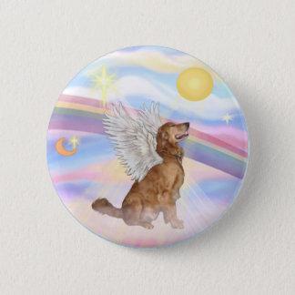 Clouds - Golden Retriever Angel (profile) Pinback Button