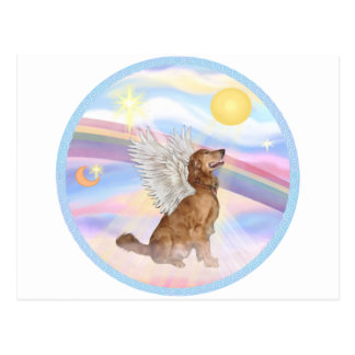 Clouds - Golden Retriever Angel (profile) Postcard