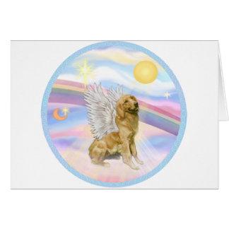 Clouds - Golden Retriever (B1) Angel Card