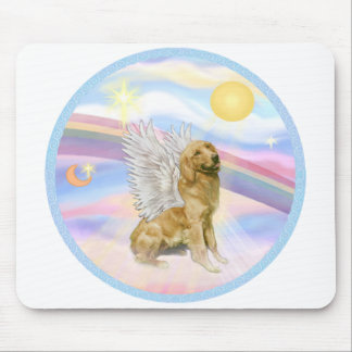 Clouds - Golden Retriever (B1) Angel Mouse Pad