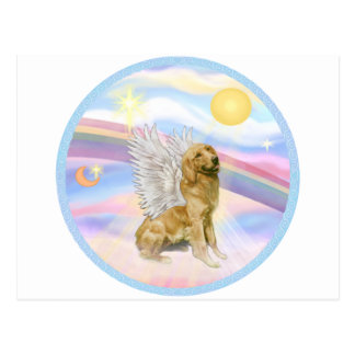 Clouds - Golden Retriever (B1) Angel Postcard