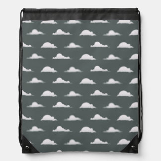 clouds grey cinch bags