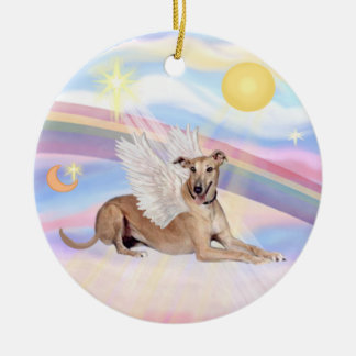 Clouds - Greyhound (fawn) Christmas Ornament