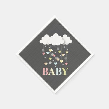 Toddler & Baby themed Clouds   Hearts Baby Shower Napkins