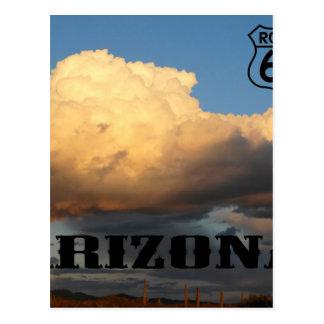 Clouds in Arizona sauaro cactus Route 66 Postcards