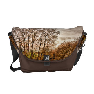 Clouds in Autumn HDR landscape Courier Bag