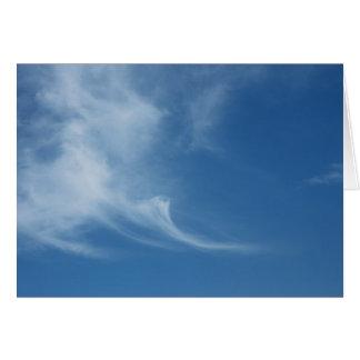 Clouds in blue sky card