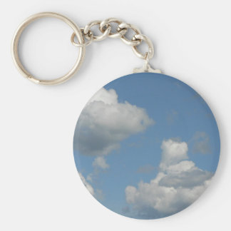 Clouds in Blue Sky Keychain