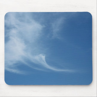 Clouds in blue sky mouse pad