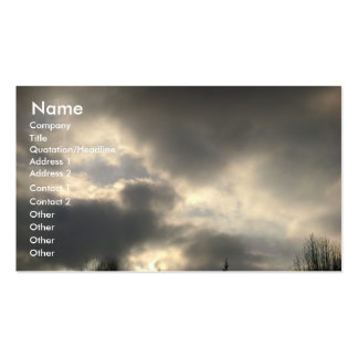 Clouds in Gainesville, GA Business Card Template