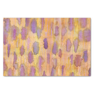 Clouds in Plum Yellow Tissue Paper