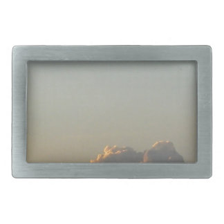 clouds in romania rectangular belt buckle