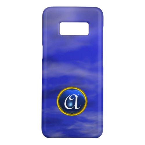 CLOUDS IN THE BLUE SKY SAPPHIRE GEM STONE MONOGRAM Phone Case
