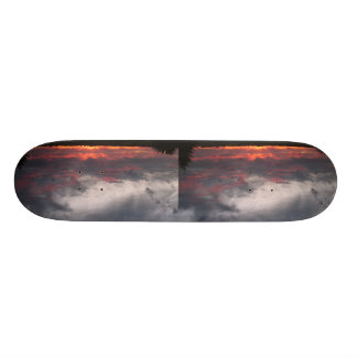 Clouds In The Evening Skateboard