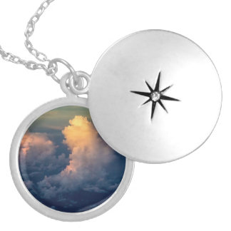 Clouds in the sky Cloudscape Locket Necklace