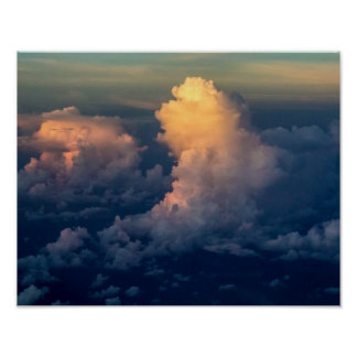 Clouds in the sky Cloudscape Poster